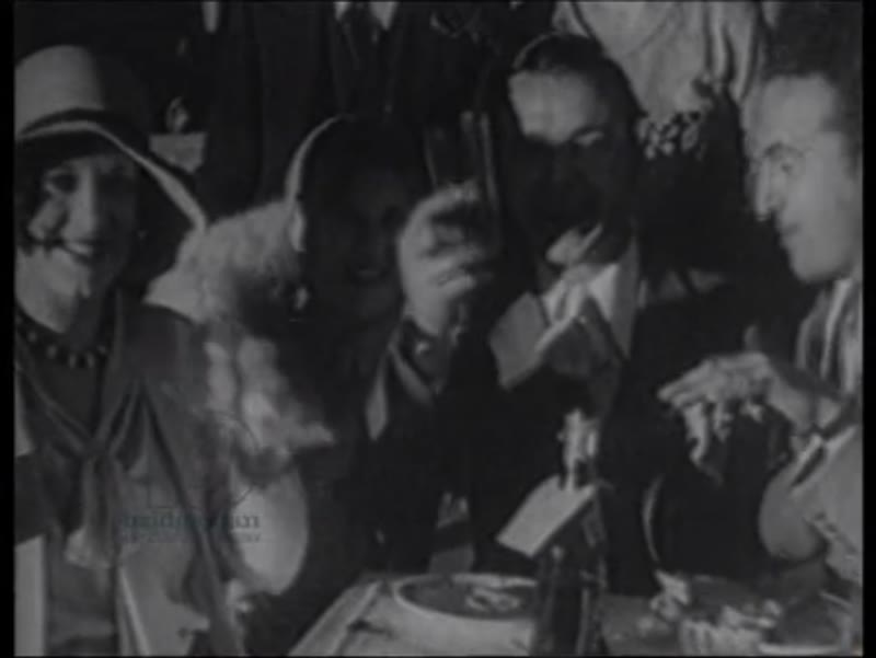 Ballroom party, fashion show, 1929