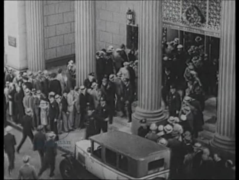 Depression, unemployment, bank lines, 1929