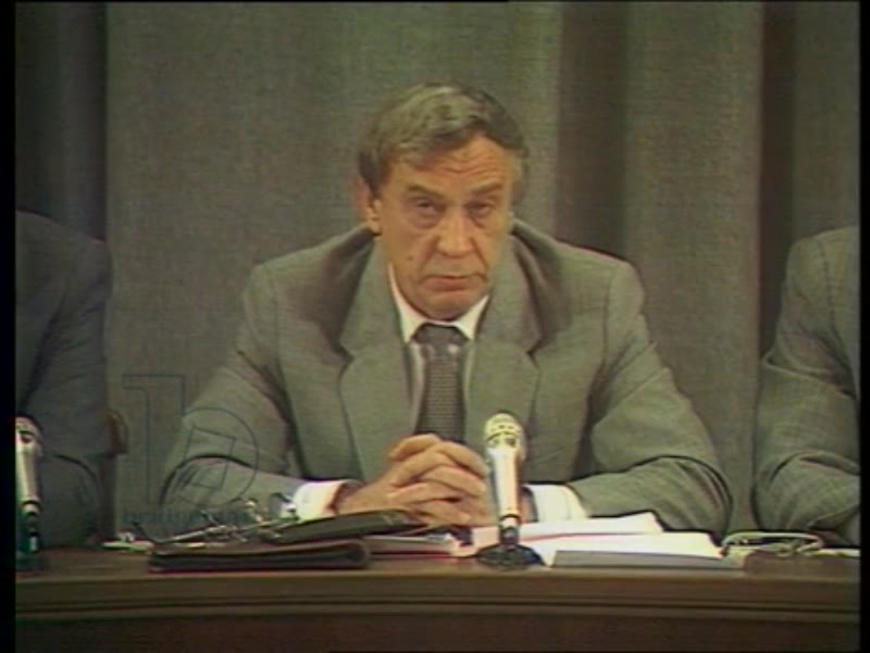 Press conference of the State Committee on the state of emergency, Moscow, August 19, 1991