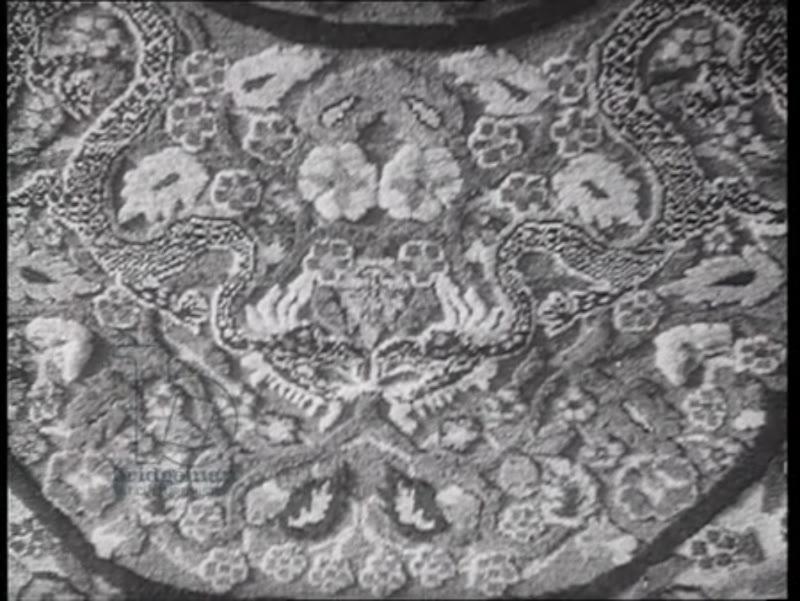 Carpets in Ashkhabad, Turkmeniya, 1945