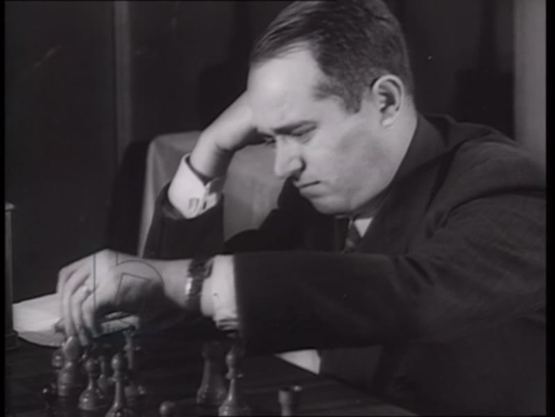 First radio-transmitted chess contest between the USA and USSR, Russia, 1945