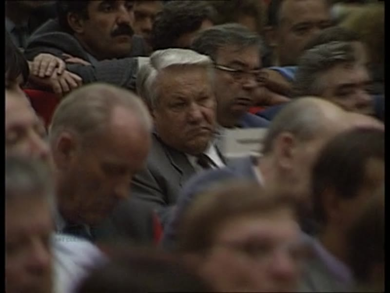 Mikhail Gorbachev speaking, 28th and last CPSU Congress, Russia, 2nd-13th July 1990