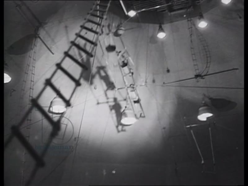 Acrobats rehearsing, Moscow Circus, 1945