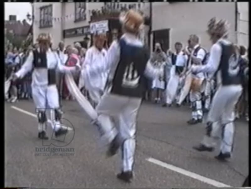 Morris dancers, VE Day in Stock, Essex, 1995