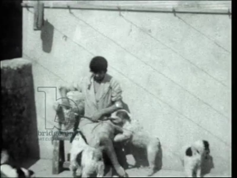 Prince de Valentinois and Princess de Monaco with her dogs