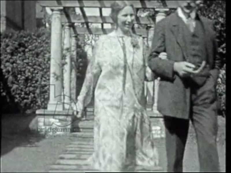 Lucy de László and her brother Noel Guinness in the garden at 3 Fitzjohn's Avenue. Philip and Lucy with their third son Paul and his friend Harry Buckland