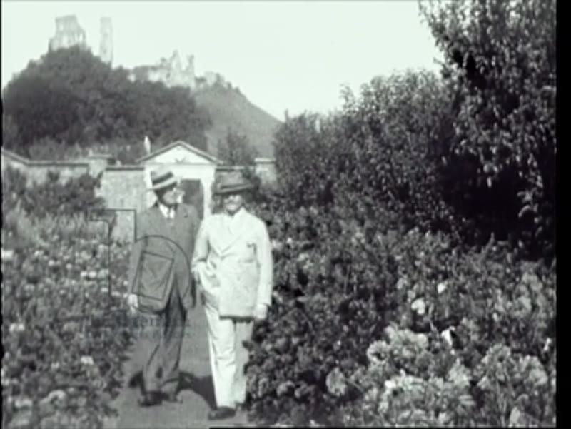 The Duke and Duchess of Somerset, members of the Cavendish-Bentinck family, Philip and Lucy de László at the Bentinck's Mortons House, Corfe, Dorset