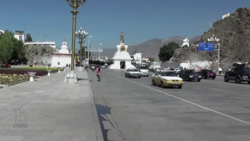 White Chortens, Lhasa City, Tibet