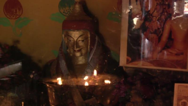 Image of Atisa, Amitayus Chapel, Drolma Lhakhang, Lhasa, Tibet