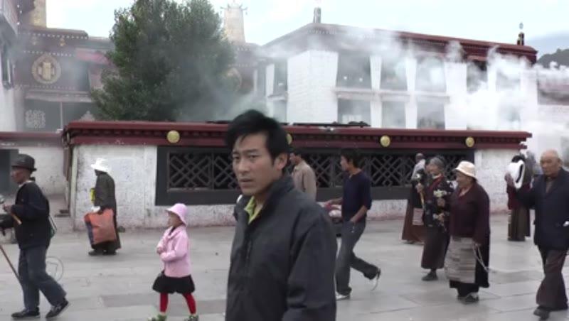 People at Kora in front of Jokhang, Jokhang Temple, Lhasa, Tibet 1