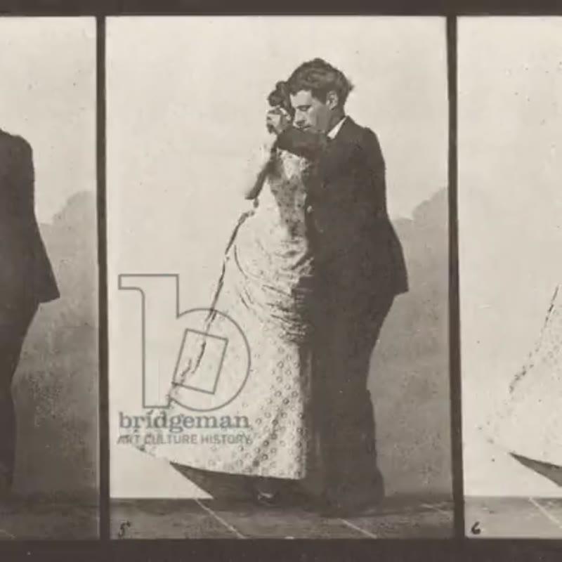 Animation of Eadweard Muybridge's 'two models waltzing', 1885