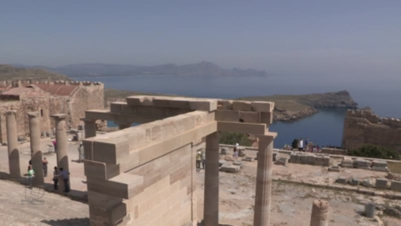 Lindos, Monumental Staircase and Church