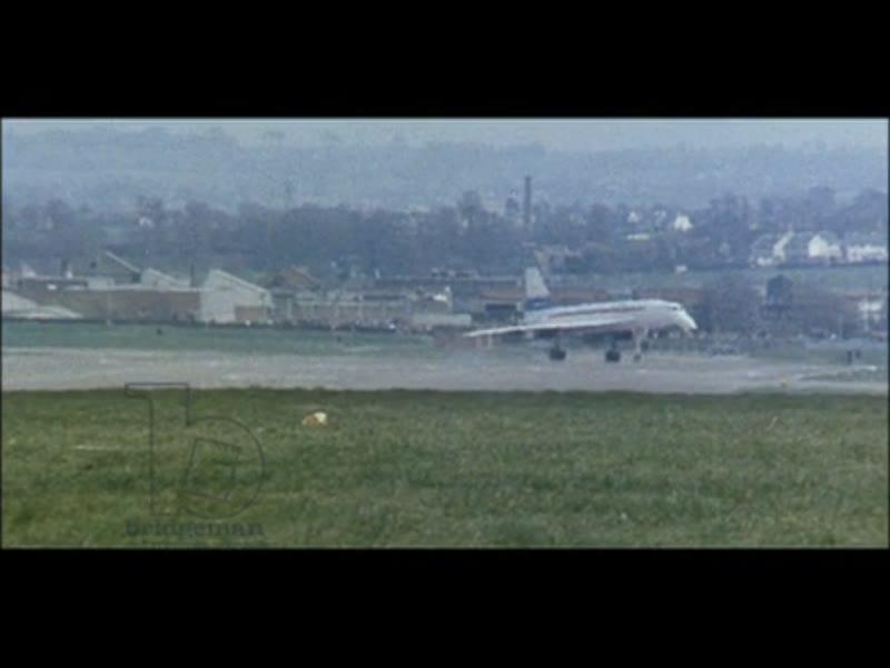 Concorde 002, maiden UK flight, 1969