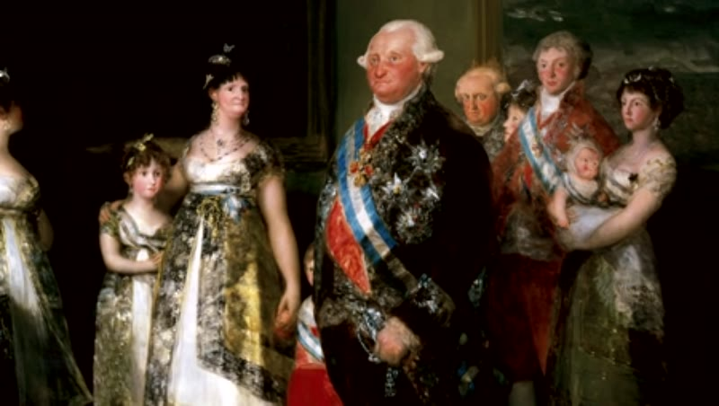 Charles IV of Spain and His Family. Francisco de Goya (1746-1828). Oil on canvas, 1800.