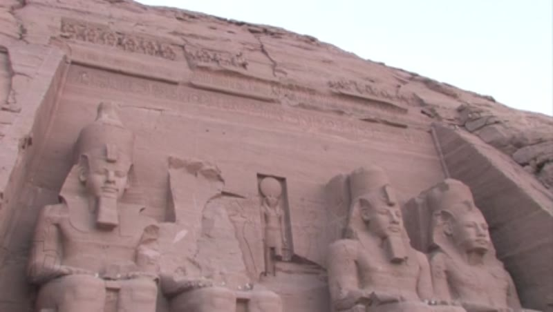 Colossal Statues of Ramses II, Abu Simbel, tempels of Ramses II