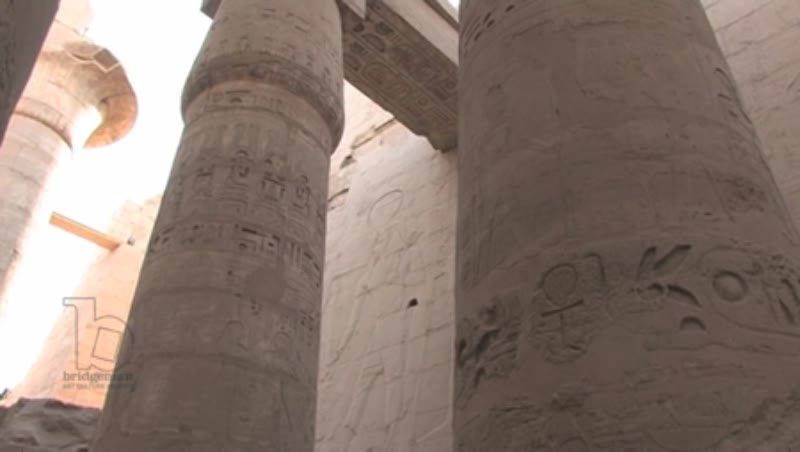 Colonnades at the Temple of Karnak, Egypt