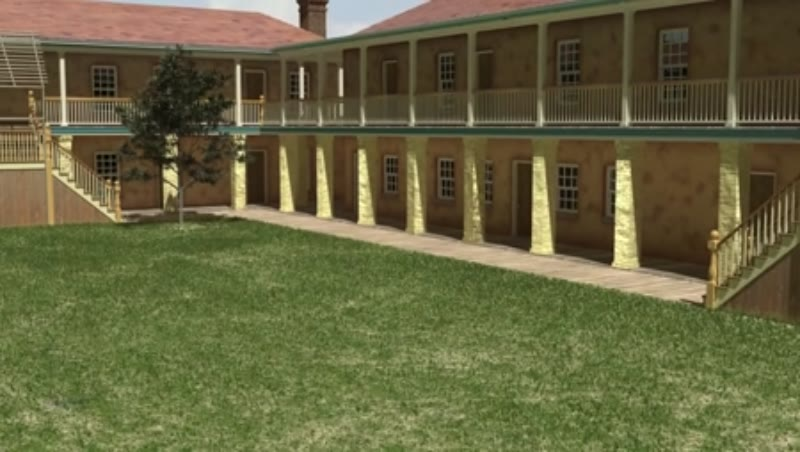 Ft Moultrie Model Rises Out of Historic Map on Library Desk