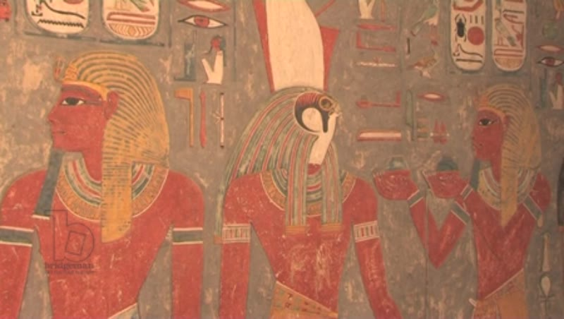 Horemheb's tomb wall, KV57, Valley of the Kings
