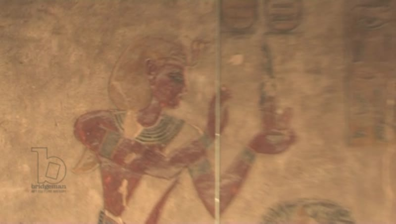 Painted and carved figures and hieroglyphics, tomb of Ay, Valley of the Kings