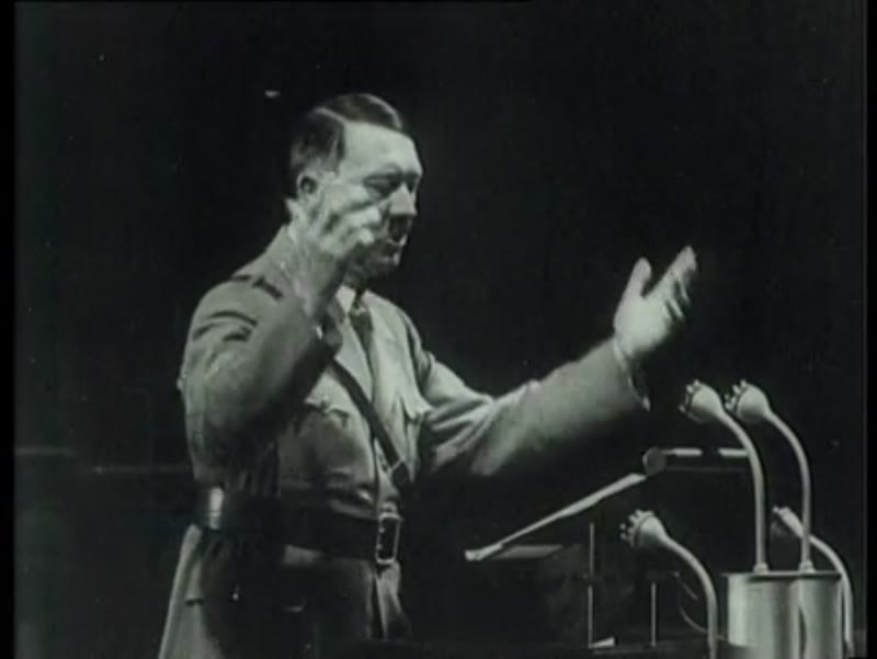 Discrepancy between what Hitler says he will do and his eventual actions