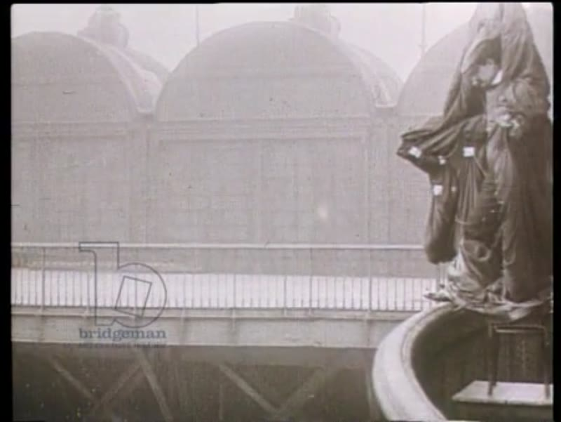"""Bird man"" Franz Reichelt attempts to fly off the Eiffel Tower, 1912"