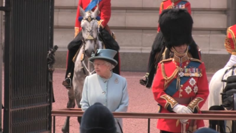 Queen Elizabeth ll and Prince Philip at Buckingham Palace