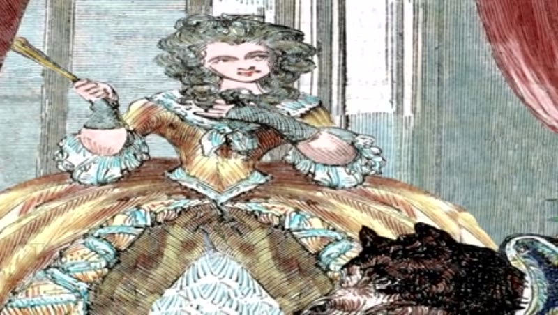 Animated illustration - Louis XV (1710-1774). King of France (1715-1774) and Marie Jeanne Becu