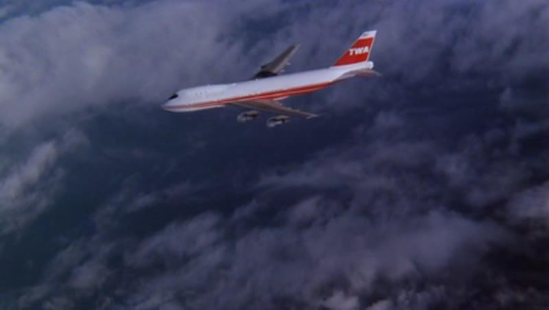 CU air to air 747 in flight