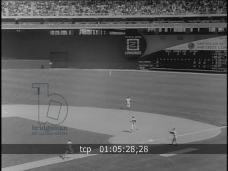 RESEARCH BOF pd nr 045c Baseball, JFK Season opener 1963