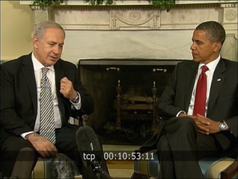 RESEARCH BOF sf pf 0169 Barack Obama And P.M. Benjamin Netanyahu, 2010