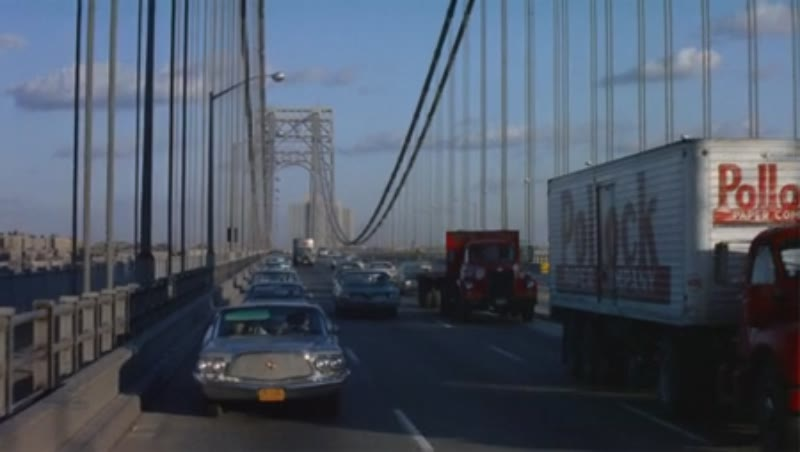 NYC - Car driving on the George Washington Bridge, 1950/60s