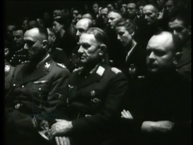 Members of the NSB and the NSDAP gather to celebrate the birthday of Hitler