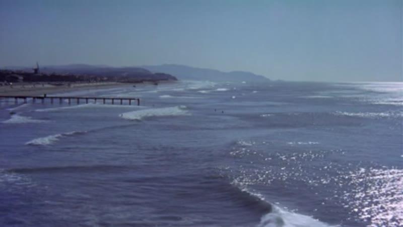 California coast surfing
