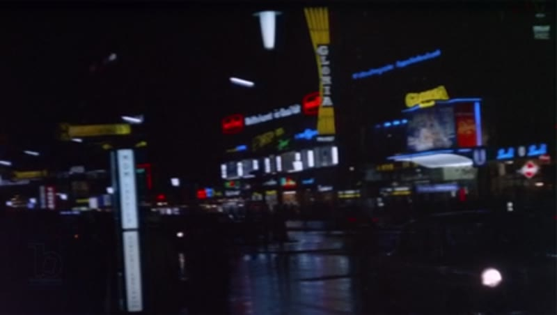 Berlin Germany, 1970s street and shops