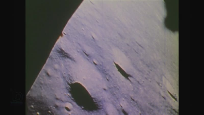 United States, 1970s: view of moon's surface from lunar module