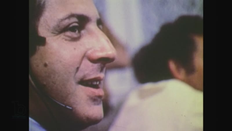United States, 1970s: side profile of man's face