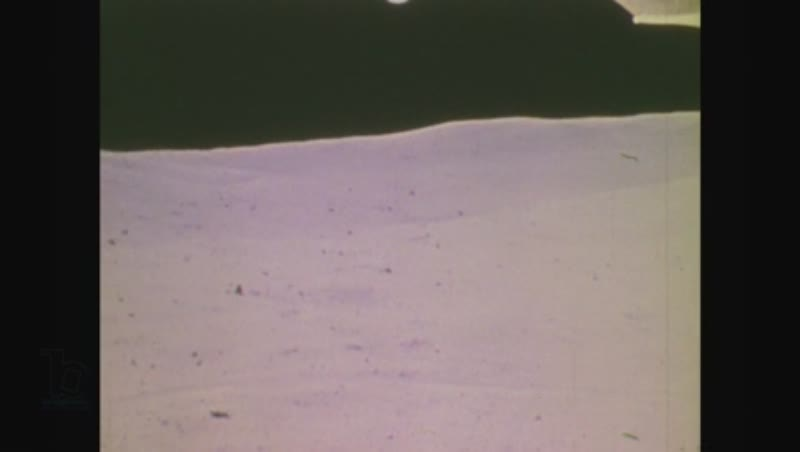 United States, 1970s: astronauts on surface of moon
