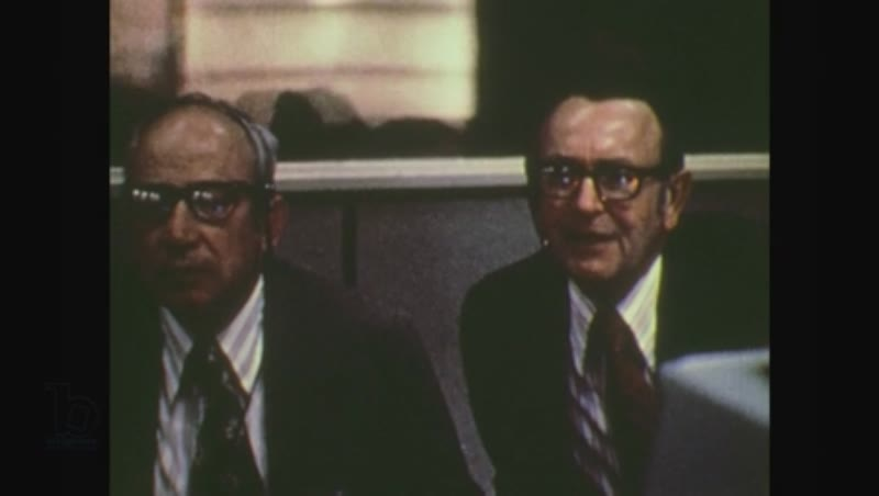 United States, 1970s: men at mission control