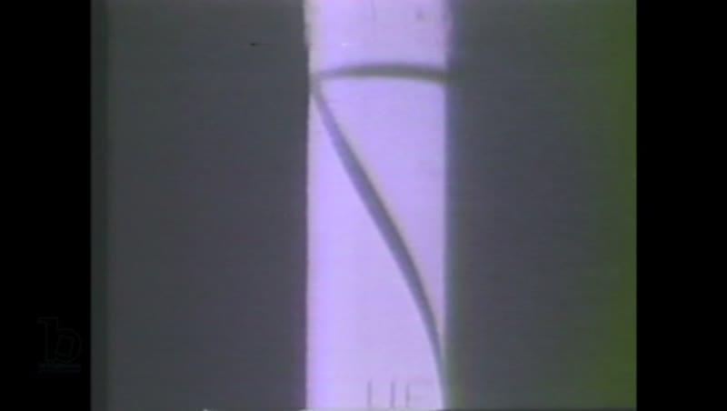 1960s: Space rocket takes off at night. Jupiter-C takes off.