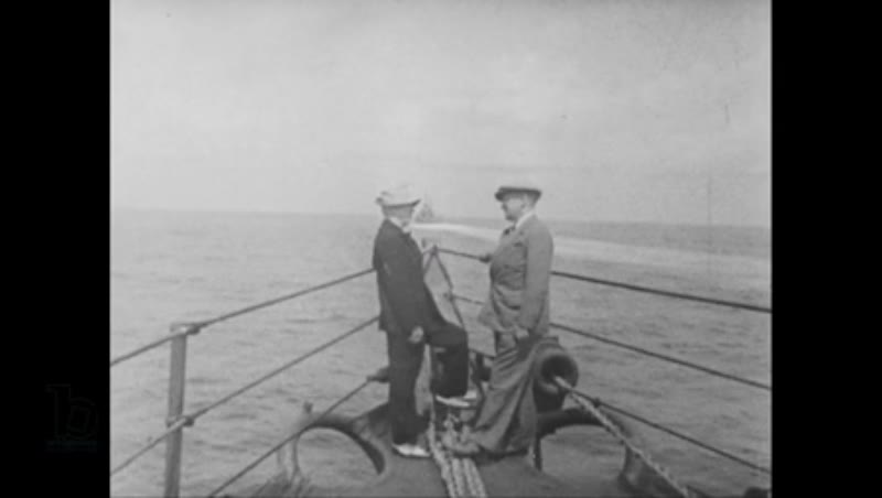 United States, 1940s: Harry Truman and James F Byrnes aboard ship