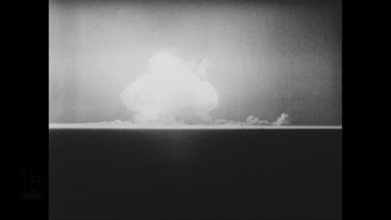 United States, 1940s: View of nuclear explosion