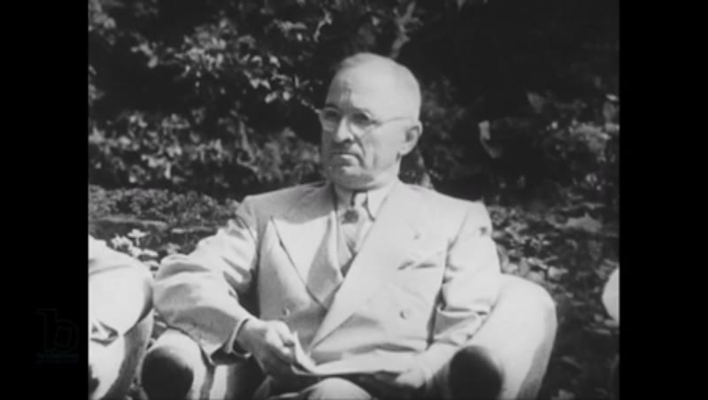 United States, 1940s: Harry Truman with Joseph Stalin