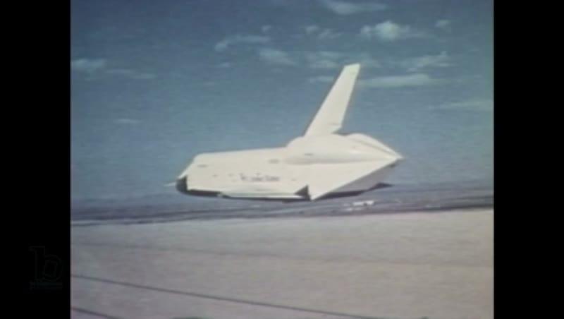 1980s: The Space Shuttle Enterprise flies through the air