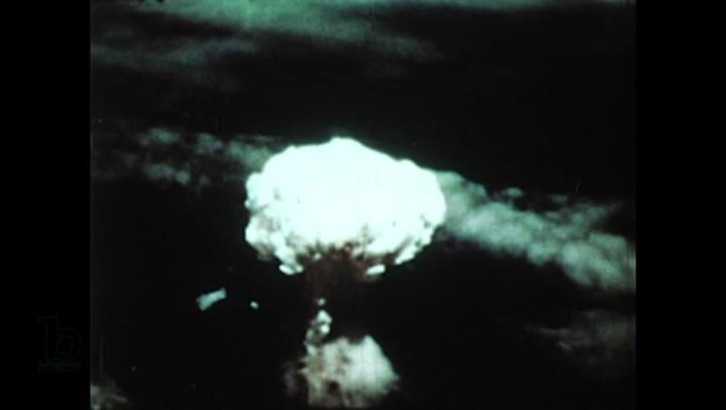United States, 1950s: Aerial views of atomic blast