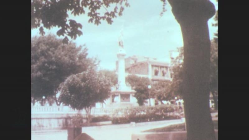 Puerto Rico, 1960s: Statue of Christopher Columbus in San Juan