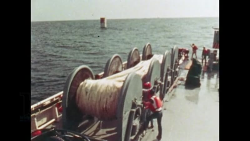 UNITED STATES: 1981: Boat floating on the ocean.