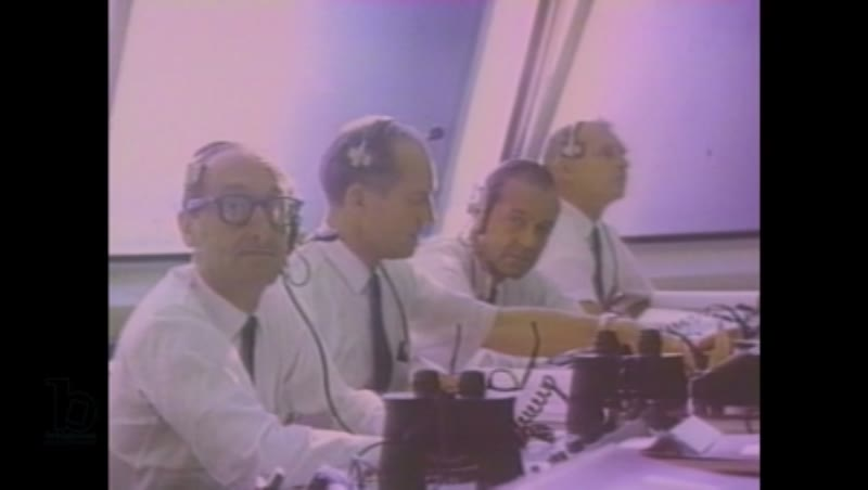 1980s: Men in mission control room
