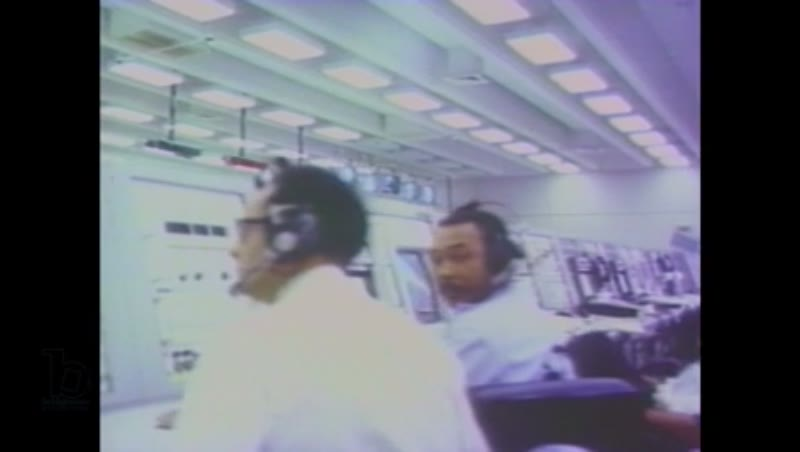 1980s: People in mission control room