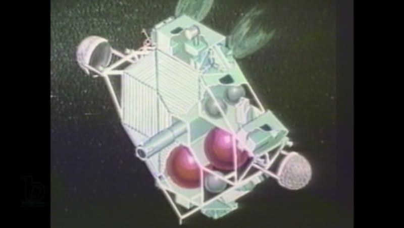 1980s: Illustration of rocket launching