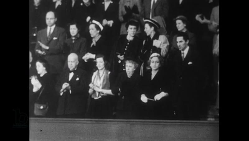 Washington DC, 1952: Winston Churchill arrives in Congress and gives a speech